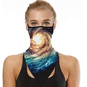 Outdoor Face Bandana Neck Gaiter with Ear Loops